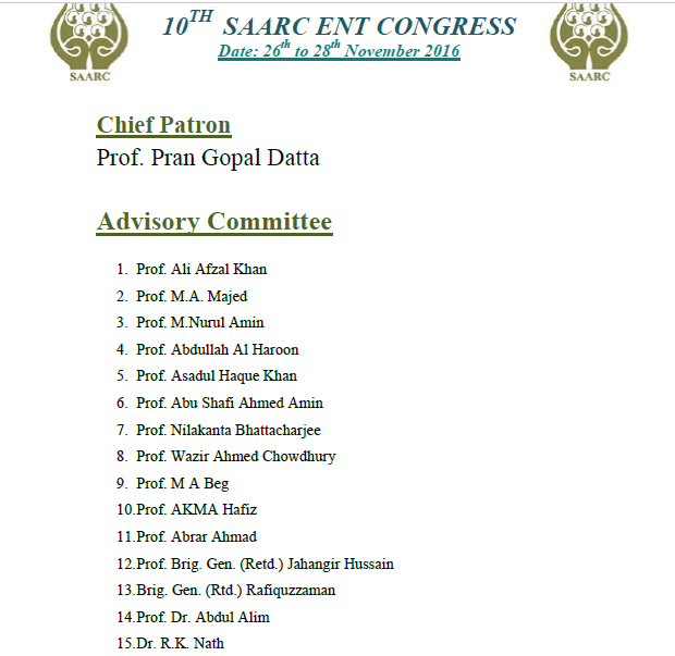 10TH Saarc ENT Congress